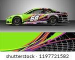 car wrap design vector. graphic ... | Shutterstock .eps vector #1197721582