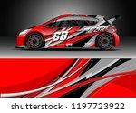 car wrap design vector. graphic ... | Shutterstock .eps vector #1197723922