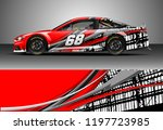 car wrap design vector. graphic ... | Shutterstock .eps vector #1197723985