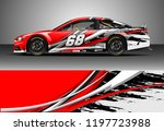 car wrap design vector. graphic ... | Shutterstock .eps vector #1197723988