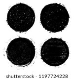 set of grunge circles... | Shutterstock .eps vector #1197724228