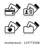 hand holding credit card ... | Shutterstock .eps vector #119772508