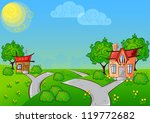 background the path to a... | Shutterstock .eps vector #119772682