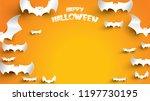 halloween background with bat... | Shutterstock .eps vector #1197730195