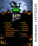 halloween menu template in... | Shutterstock .eps vector #1197732145