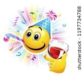 smiling ball celebrating.... | Shutterstock .eps vector #1197734788