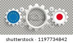 japan and eu flag with... | Shutterstock .eps vector #1197734842