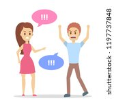 angry woman yelling at her... | Shutterstock .eps vector #1197737848