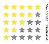 5 golden star in a row rating.... | Shutterstock .eps vector #1197737902