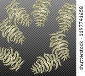 fern frond herbs  tropical... | Shutterstock .eps vector #1197741658