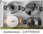 set of clean kitchenware in...   Shutterstock . vector #1197745015