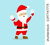 happy funny santa claus in red...   Shutterstock .eps vector #1197747775