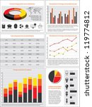 charts  statistics and data for ... | Shutterstock .eps vector #119774812