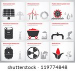 icons for renewable and non... | Shutterstock .eps vector #119774848