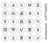 call icon set. collection of 25 ...   Shutterstock .eps vector #1197756052