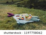 glamour picnic with homemade... | Shutterstock . vector #1197758062