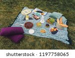 glamour picnic with homemade... | Shutterstock . vector #1197758065