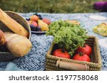 glamour picnic with homemade... | Shutterstock . vector #1197758068