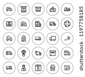 deliver icon set. collection of ... | Shutterstock .eps vector #1197758185