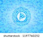 pizza slice icon inside sky... | Shutterstock .eps vector #1197760252