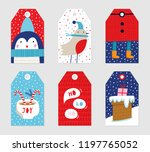 christmas gift tags set. vector ... | Shutterstock .eps vector #1197765052