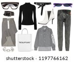 a set of fashionable clothes... | Shutterstock . vector #1197766162