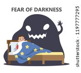 fear of darkness concept.... | Shutterstock .eps vector #1197777295