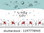 hand drawn greeting card with... | Shutterstock .eps vector #1197778945