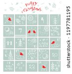 hand drawn christmas advent... | Shutterstock .eps vector #1197781195