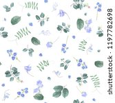 vector botanical seamless... | Shutterstock .eps vector #1197782698
