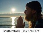 portrait of a bearded male... | Shutterstock . vector #1197783475