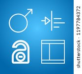 signs icon set   outline... | Shutterstock .eps vector #1197784372