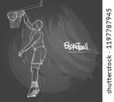 illustration of basketball... | Shutterstock .eps vector #1197787945