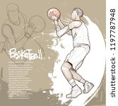 illustration of basketball... | Shutterstock .eps vector #1197787948