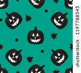 halloween seamless pattern with ... | Shutterstock .eps vector #1197788545