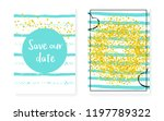 bridal shower set with dots and ... | Shutterstock .eps vector #1197789322