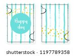 bridal shower set with dots and ... | Shutterstock .eps vector #1197789358