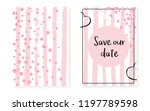 bridal shower set with dots and ... | Shutterstock .eps vector #1197789598
