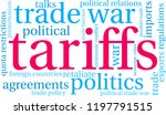 tariffs word cloud on a white... | Shutterstock .eps vector #1197791515