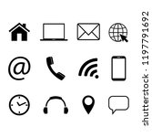 collection of communication... | Shutterstock .eps vector #1197791692