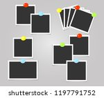 collection of photo frame with... | Shutterstock .eps vector #1197791752