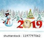 new year and merry christmas...   Shutterstock .eps vector #1197797062