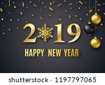 2019 new year background for... | Shutterstock .eps vector #1197797065