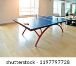 ping pong tables in the room. | Shutterstock . vector #1197797728