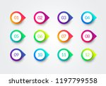 vector arrow bullet point... | Shutterstock .eps vector #1197799558