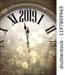 new year 2019 bokeh card with... | Shutterstock .eps vector #1197809965