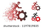 blood gear job accident icon in ... | Shutterstock .eps vector #1197819835
