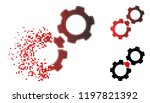 damaged gears icon in dispersed ... | Shutterstock .eps vector #1197821392