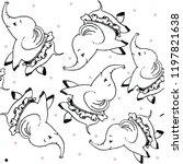 cute animal patterns vector | Shutterstock .eps vector #1197821638