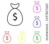 element of money bag in multi...